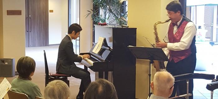 20191225 テナーサックス&ピアノ ベストアングル